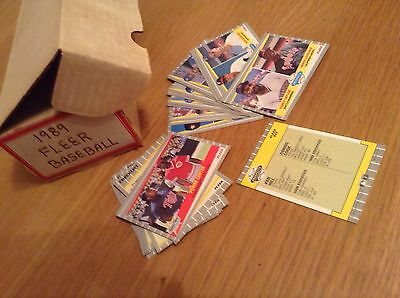 Complete Set 1989 Fleer MLB Baseball Trading Cards (660 Cards Plus Puzzle Cards)
