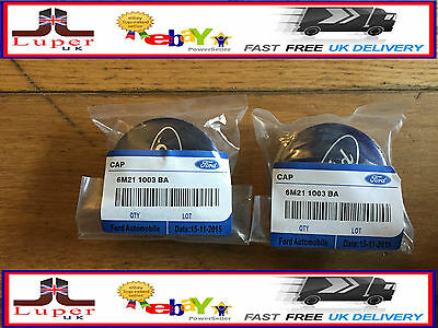 Ford Blue 54Mm Alloy Wheel Centre Caps X4, Mondeo, Focus, C-Max, Fiesta, Kuga