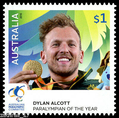 2016 Paralympian Of The Year Stamp - Dylan Alcott - MUH Olympics