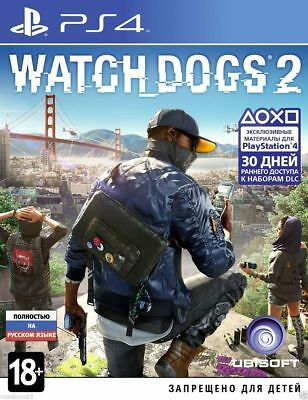 Watch Dogs 2 (PS4, 2016) Russian,English version *NEW*