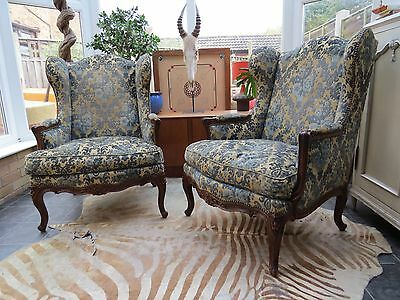 PAIR OF GOOD QUALITY FRENCH LOUIS 16th STYLE WING ARM CHAIRS  C1920