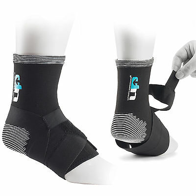 UP Elasticated Knitted Sprain Strain Weak Ankle Strapped Compression Support