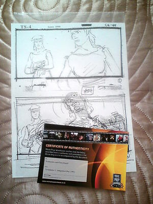 Terminator 2  Production Used Story Board With Coa