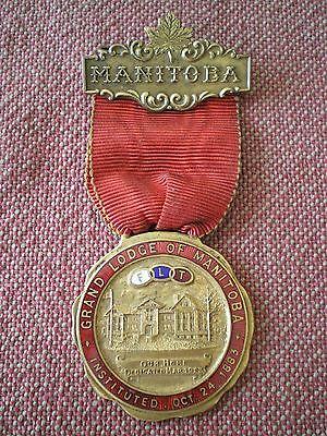 1923 Independent Order of Odd Fellows GRAND LODGE of MANITOBA MEDAL