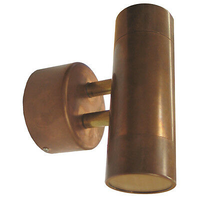 LED Copper Up Down Wall Light GU10 Exterior Outdoor Crompton Warm or Cool White
