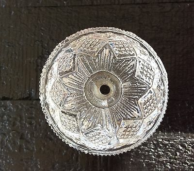 Antique Sandwich Glass Heavy Furniture Knob / Pull, 3 Mold