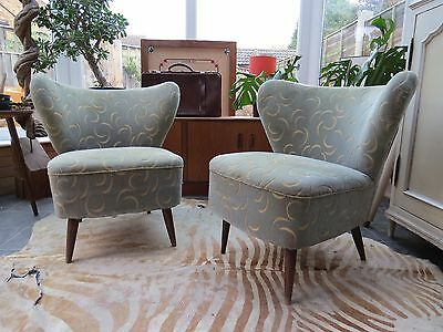 Pair Vintage East German Cocktail Chairs Perfect For Recovering Oc16-40
