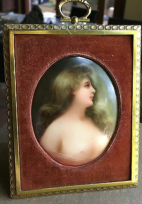 Exceptional  VIENNA Porcelain Plaque Signed WAGNER