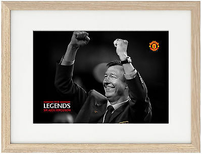 Sir Alex Ferguson A4 Poster Unique Image, Manchester United Old Trafford