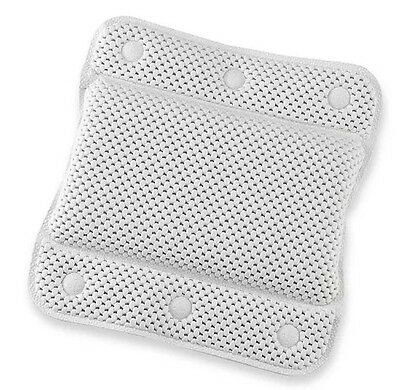 Cushion Bath Spa Pillow White Memory Foam Relaxing Soak Head Neck Relax Body