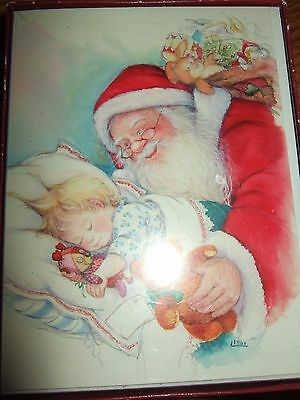 Vintage Lisi Martin box Unused Christmas Cards W/Envelopes  Pictura Sweden boy