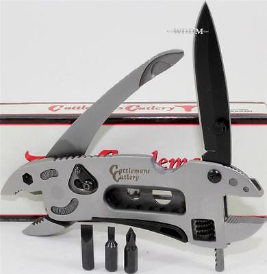 Crescent Cattlemans Ranch Hand Multi-Tool Pliers Screwdriver Wrench Pocket Knife