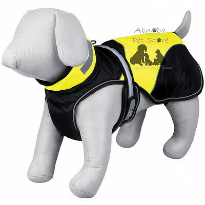 Dog Safety Flash Coat soft fleece lining & padding reflecting piping windproof