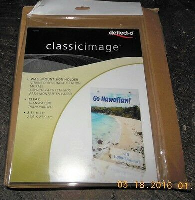 Box of 12-Deflect-o Clear Acrylic Wall Mount Sign Holder / Picture Frame