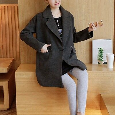 Winter Maternity Coat Pregnant Women Solid Color Cloak Trendy Warm Outerwear New