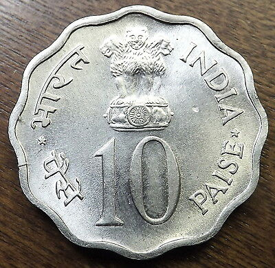 1974 10 Paise India High Grade Mint State Lot#41