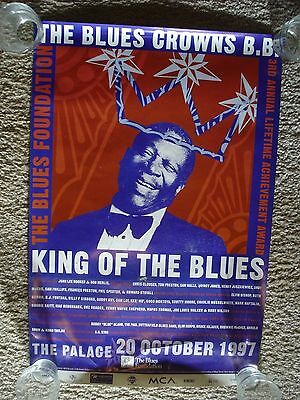"B.B.King Lifetime Achievement Award Poster ""The Palace"" 1997"
