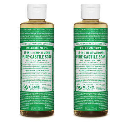Dr Bronners Castile Liquid Soap Natural Organic Vegan Eco 237ml All Flavours