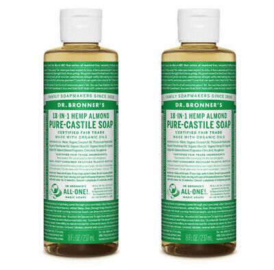 Dr Bronners Castille Liquid Soap Natural Organic Vegan Eco 237ml All Flavours