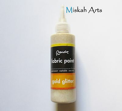RENOIR - GLITTER FABRIC PAINT - 118ml - GOLD