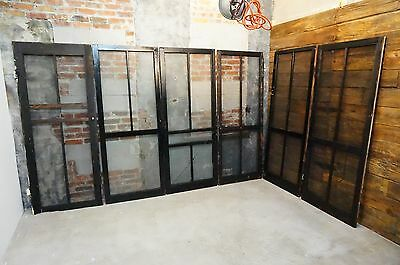6 VTG ARCHITECTURAL SALVAGE WOOD SCREEN DOORS RUSTIC w/ HARDWARE Black Paint