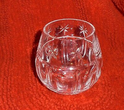 Waterford Clear Crystal Candle Holder Votive Tealight Small Vase
