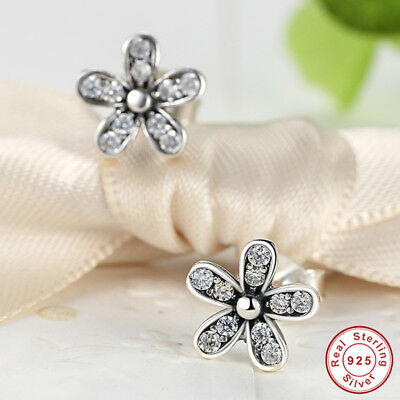 7e48866a4 Dazzling Daisy Sterling Silver .925 Stud Earrings w/Clear CZ Accents for  Xmas