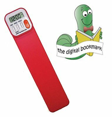 Mark-My-Time Digital Bookmark- Red