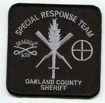 Oakland County Michigan Sheriff Special Response Team Patch