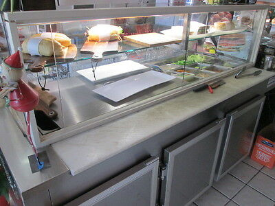 Free Standing Refridgerated Sandwich Bar 2.4M In Length Excellent Condition