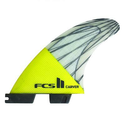 Fcs II Carver PC Carbon Tri Surfboard Fins In Medium New & Genuine From FCS Surf