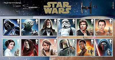 STAR WARS The Force Awakens Character Royal Mail Collectible Postage Stamps