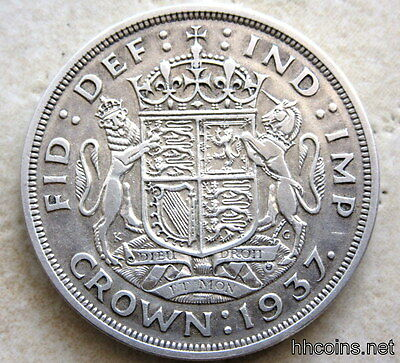 Great Britain George V 1937 Coronation Crown, Silver