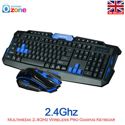 Multimedia 1 Set 2.4G Gaming Wireless Keyboard and Mouse Set For Computer Gamer