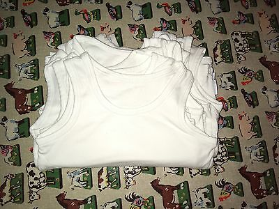 12 White Boys Autograph Vests, 5-6 Years.  Immaculate Condition RRP £32