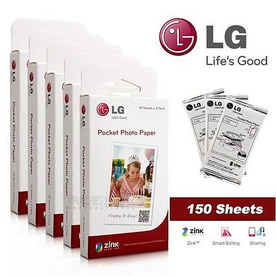ZINK Photo Paper for LG Pocket Photo Po Po Printer PD221 PD233 PD251 150 Sheets