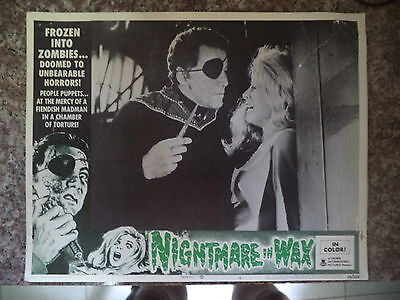 NIGHTMARE IN WAX US LOBBY CARD # 69/220 1969 HORROR 14x11 CAMERON MITCHELL #6