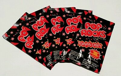 10 x POP ROCKS CANDY - STRAWBERRY �� * Fast & Free post - Kids party lollies