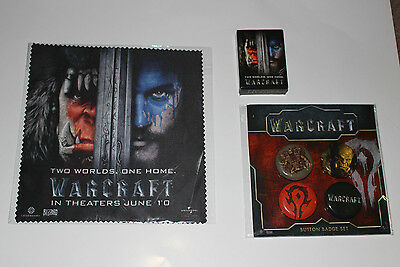 Warcraft Movie promotion bundle (Buttons, cleaning cloth and mints)