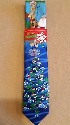Hallmark Holiday Traditions Christmas Tie - Great for the Fisherman Fishing