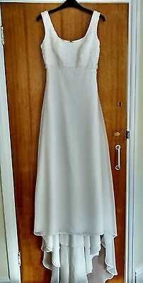 Vintage Size 10 Ivory Lace & Chiffon Wedding Dress By Alfred Angelo
