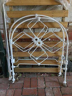 Vintage Antique Wrought Iron Single White Bed Bedstead Pick Up Brighton VIC