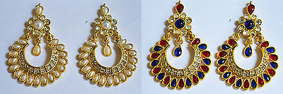 Indian Bollywood New Women Ear Ring Fashion Traditional Ethnic Crystal Combo b7