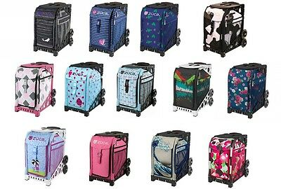 Zuca Bag with BLACK Frame - Various inserts - NEW - Figure skating trolley bag