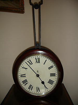 Original G P O Double Dial Chain Drive Fusee Wall  Clock