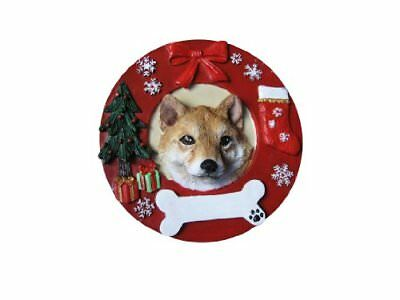 Shiba Inu Ornament Personalized and Hand Painted Measures 3.75 Inches Diameter
