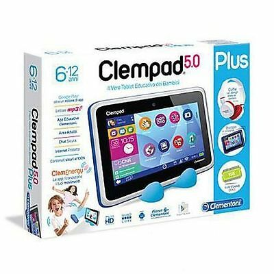 Clempad 5.0 Tablet Plus Hd Con Cuffie   Anni 6-12 Clementoni 13372 Tablet