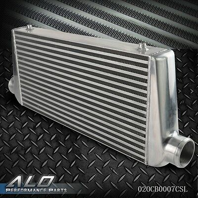 """UK Turbo Aluminum Front Mount Intercooler 600x300x76MM 3"""" Inch In/Out Silver"""