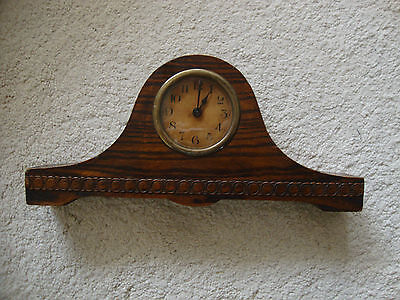 Vintage Solid Oak Timepiece Napoleon Style - FOR SPARES OR REPAIRS