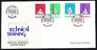 Singapore 1983 Technical Training First Day Cover - Unaddressed
